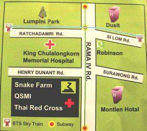 Queen Saovabha Snake Farm Map - Bangkok, Thailand